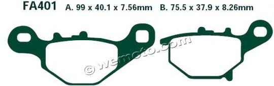Picture of Suzuki RM 85 K6 06 Brake Pads Rear EBC Standard (GG Type)