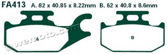 Picture of Suzuki UH 200 L6 Burgman 16 Brake Pads Rear EBC Standard (GG Type)