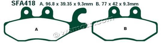 Picture of EBC Brake Pads SFA418