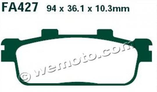 Picture of Brake Pads Rear EBC Standard (GG Type)