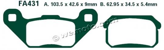 Picture of Pads Rear EBC Sintered (GG Type)