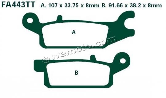 Brake Pads Front Left EBC Sintered (GG Type)