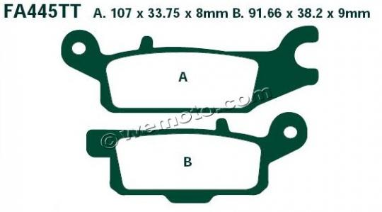 Brake Pads Rear Left EBC Standard (GG Type)