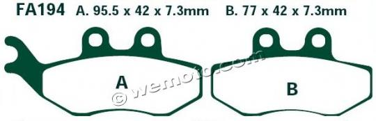 Picture of EBC Brake Pads SFA194