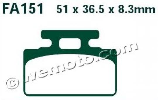 Picture of EBC Brake Pads SFA151