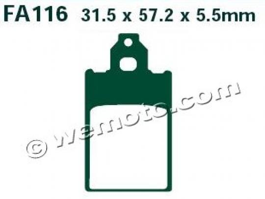 Picture of EBC Brake Pads SFA116