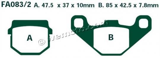 Picture of EBC Brake Pads SFA83/2