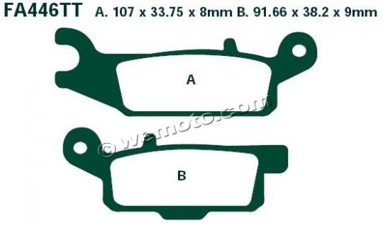 Picture of Brake Pads Rear Right EBC Sintered (GG Type)