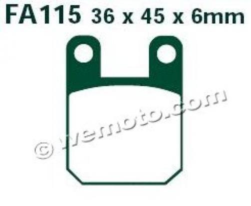 Picture of EBC Brake Pads SFA115HH Sintered