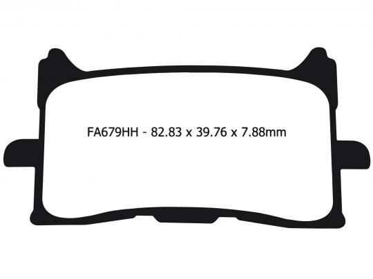 Picture of Brake Pads - Sintered - EBC FA679HH