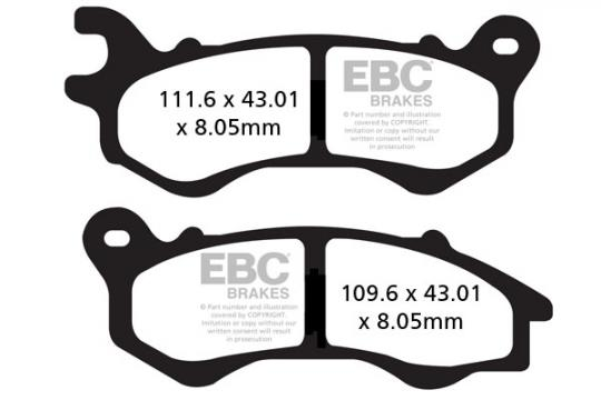 Picture of Honda SH Mode 125 18 Brake Pads Front EBC Sintered (HH Type)
