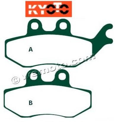 Picture of Italjet Jupiter 250 01 Brake Pads Rear Kyoto Standard (GG Type)