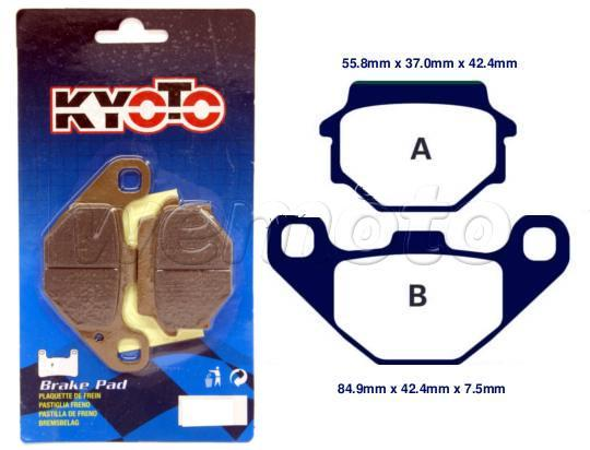 Picture of OSSA 560cc 92 Brake Pads Front Kyoto Standard (GG Type)