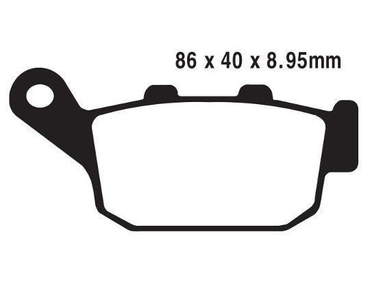 Picture of Honda CB 500 FAH 17 Brake Pads Rear Pattern Standard (GG Type)
