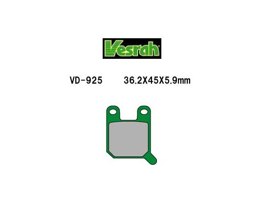 Picture of Pads Rear Vesrah Green (GG Type)