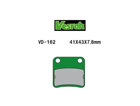 Picture of Brake Pads Rear Vesrah Green (GG Type)
