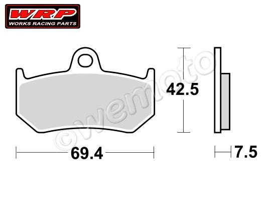 Picture of Pads Rear WRP Supersport Sintered (F3)