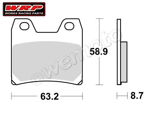 Picture of WRP Brake Pads Supersport Rear  WG-7370-F3 Sintered
