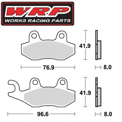 Picture of Suzuki RM 125 H (US Market) 87 Brake Pads Front WRP Off-Road Sintered (F4)