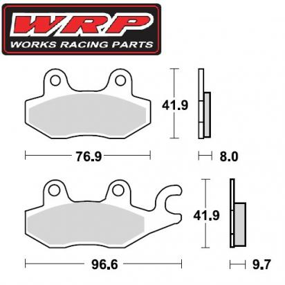 Picture of Kawasaki KLF 300 C1-C17 Bayou 89-05 Brake Pads Front Right WRP Off-Road Sintered (F4)