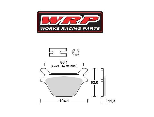 Picture of  WRP Brake Pads Supersport  Rear  WG-7269-F3 Sintered