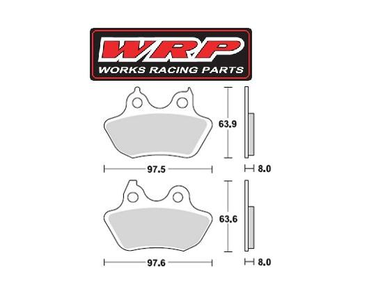 Picture of WRP Brake Pads Supersport Rear WG-7446-F3 Sintered