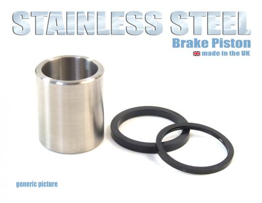 Brake Piston and Seals (Stainless Steel) Front Caliper Small