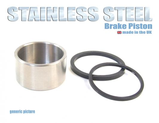 Brake Piston and Seals (Stainless Steel) Front Caliper Large