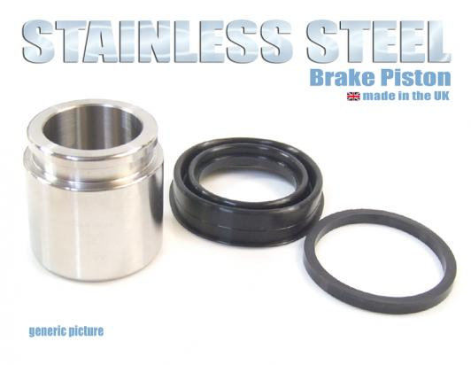 Brake Piston and Seals (Stainless Steel) Front Caliper