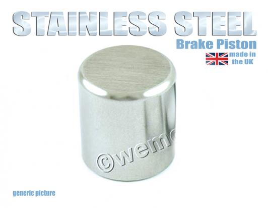 Brake Caliper Piston  28mm OD by 28mm Long   Stainless Steel 1 Piston Unit  No Seals included