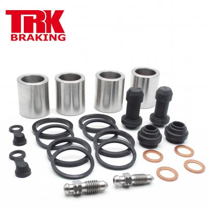 Brake Piston and Seal Kit Stainless Steel Front (Twin) - by TRK