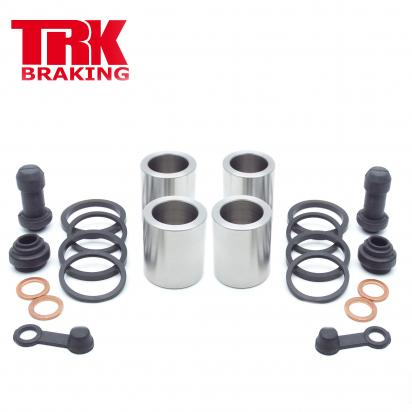 Picture of Suzuki AN 400 AL2 Burgman ABS 12 Brake Piston and Seal Kit Stainless Steel Front (Twin) - by TRK