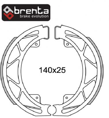 Picture of Italjet Jet Set 50 01 Brake Shoes Rear Pattern
