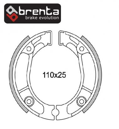 Picture of Honda TL 125 78-79 Brake Shoes Rear Brenta