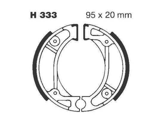 Picture of Honda SN 50 S Giorno AF24 (import) 95 Brake Shoes Front EBC Grooved