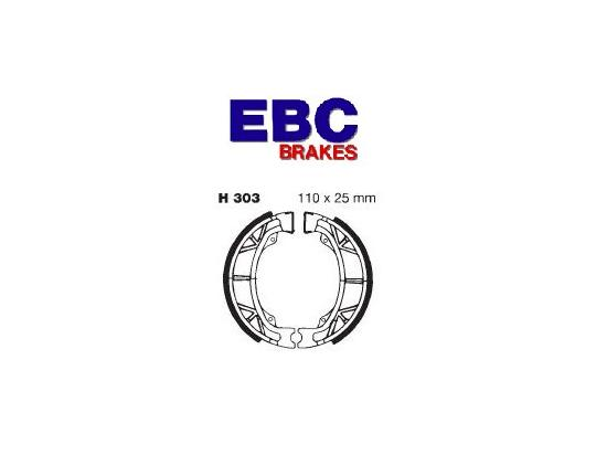 Picture of Honda C 50 LAG 86-89 Brake Shoes Rear EBC Grooved