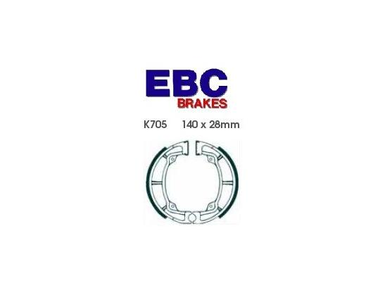 Picture of Kawasaki KDX 250 B2 82 Brake Shoes Front EBC Standard