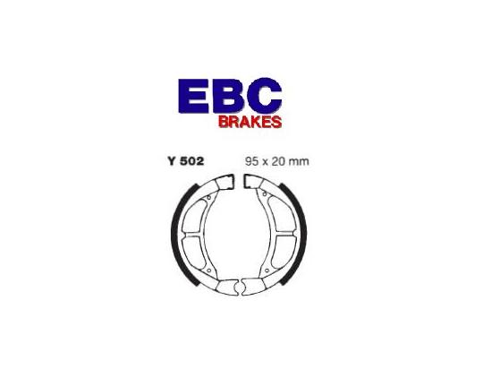 Picture of Suzuki RM 80 XF 85 Brake Shoes Rear EBC Grooved