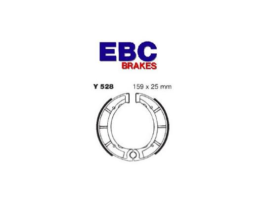 Brake Shoes Front EBC Grooved