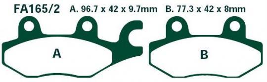 Picture of EBC Brake Pads FA165/2R Sintered
