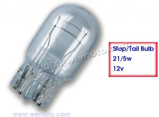 Yamaha 12v 12 Volt Tail Light Bulb 21//5w 21w 5w Watt Taillight Brake Stop ATV
