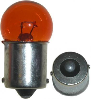 Picture of Indicator Bulb BA15S 12V 23W Orange/Amber