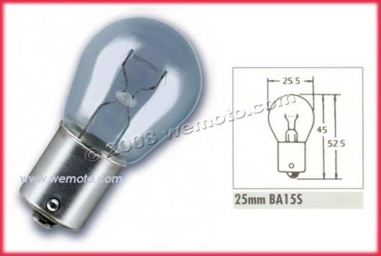 Picture of Indicator Bulb BA15 12V 15W Clear