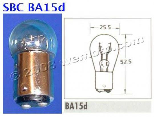 Indicator Bulb BA15d 12V 23/8 American Fitting