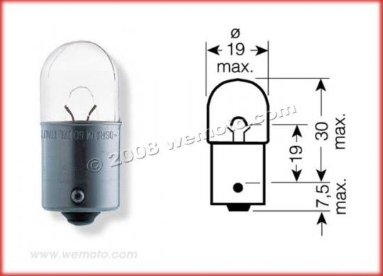 Picture of Indicator Bulb BA15S 12V 23W Clear