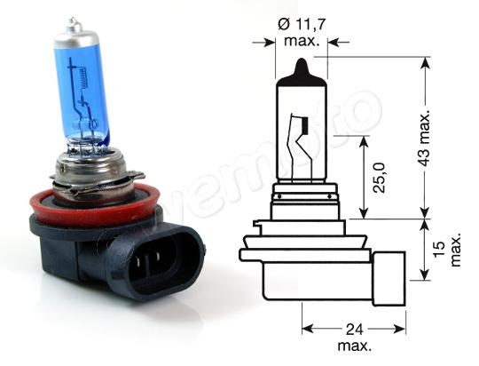 Picture of Headlight Bulb H11 12V 55w Halogen  BLUE!!!