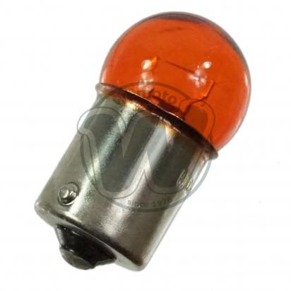 Picture of Indicator Bulb BA15S 12V 10W Amber