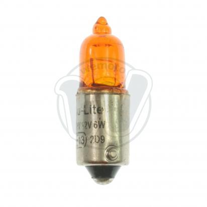 Picture of Indicator Bulb BAX9 12V 6W - Halogen Orange/Amber - Offset Pin