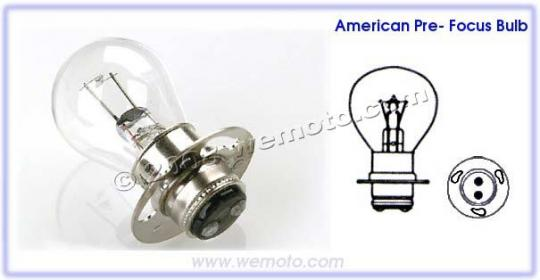 Picture of Headlight Bulb APF 6V 25/25W