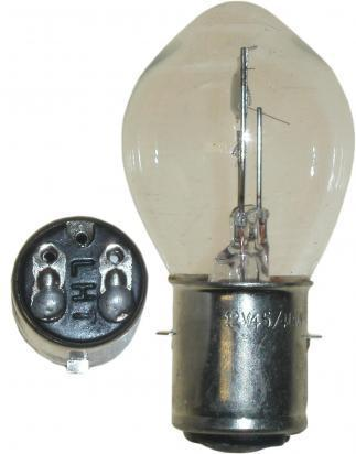 Headlight Bulb BA20D Bosch Fitting 6v 25/25W